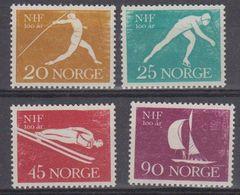 Norway 1961 100J. Sportverband Norwegens 4v ** Mnh (45306D) - Noorwegen