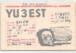 QSL Cards - YU 3 Est , Yugoslavia, Slovenije - Ljudljana - Radio Amateur