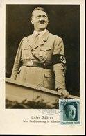 49307 Germany Reich Maximum Hitler, Postmark Nurnberg 7.9.1937  Parteitag  (mi-bloc 8 1937) - Briefe U. Dokumente
