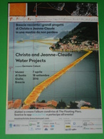 "LAGO ISEO - CHRISTO E JEAN CLAUDE ""WATER PROJECTS"" The Floating Piers  Museo ""Santa Giulia"" BRESCIA Promocard - Museum"