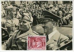 49308 Germany Reich Maximum Hitler+mussolini Postmark First Day !!! Munchen  30.1.1941  (mi-763) - Briefe U. Dokumente