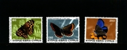 CYPRUS - 1983  BUTTERFLIES  SET  MINT NH - Nuovi