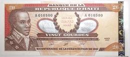 Haïti - 20 Gourdes - 2001 - PICK 271 - NEUF - Haiti