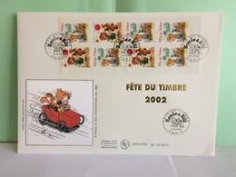 Fête Du Timbre 2002 Bande (Boule & Bill)(BC 3467a) - Paris - 16.3.2002 FDC 1er Jour Coté 17€ Grande Enveloppe - FDC