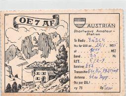 QSL Cards - OE 7 AF - Austrian -   Shortwave Amateur Station -1955 - Radio Amatoriale