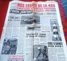 L'Auto Journal N°219 Avril 1959 Essai Peugeot 403 Jaeger Salon Genève Routes Neuves Ouessant - Auto