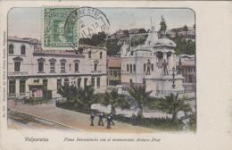 Amérique - Chile - Chili - Valparaiso - Plaza Intendencia Con El Monumento Arturo Prat - Chile
