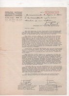 1947 FLEURY-MEROGIS LEVEE DE FONDS CREATION MAISON DE POST-CURE TUBERCULOSE - FEDERATION DEPORTES & INTERNES RESISTANTS - Documenti Storici