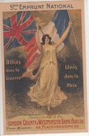 Souscrivez Au 5ème Emprunt National 1920 Auprès De La London County Et Westminster Bank (Paris) Ltd - Marcophilie (Lettres)