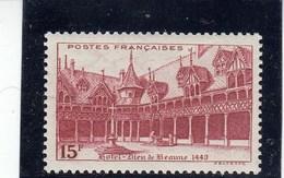 France - 1942 - N° YT 539** - Hôtel-Dieu De Beaune - Nuovi