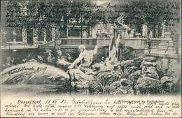 Ansichtskarte Düsseldorf Tritonengruppe Im Stadtgraben 1903 - Duesseldorf
