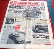 L'Auto Journal N°218 Mars 1959 Essai Renault Dauphine 1959 Boîte à Savon Bellème Pétrole Sahara Royan Rimini - Auto