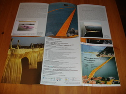 "Lago ISEO/CHRISTO E JEAN CLAUDE ""WATER PROJECTS"" The Floating Piers/Gemano Celant Museo""Santa Giulia"" BRESCIA Promocard - Musei"