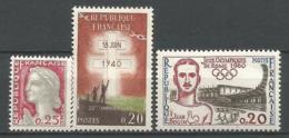 FRANCE ANNEE 1960 N° 1263 A 1265 NEUFS** NMH - Ungebraucht