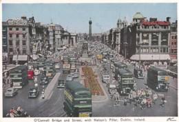 DUBLIN - O'CONNELL BRIDGE @ STREET. NELSONS PILLAR - Dublin