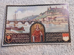 Ak Wurzburg Versammlung Der Katholiken 1907 - Wuerzburg