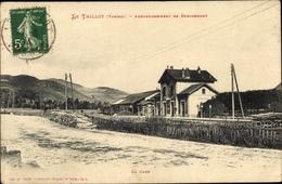 Cp Le Thillot Vosges, La Gare - Francia