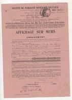 1921 - SOCIETE DE PUBLICITE DIURNE ET NOCTURNE DANS LES GARES ET STATIONS DE CHEMINS DE FER PARIS / MARENNES - Druck & Papierwaren
