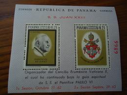PANAMA  MINT SHEET POPES  PAULO  VI - Panamá