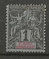 ST MARIE DE MADAGASCAR N° 1 NEUF** SANS CHARNIERE / MNH - Madagascar - Santa María (1894-1898)