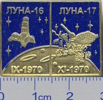 450-10 Space Russian Pin. Luna-16,-17 Lunokhod Soviet Moon Program - Space