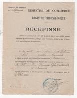 1920 - REGISTRE DU COMMERCE / REGISTRE CHRONOLOGIQUE / RECEPISSE - POITEVIN MECANICIEN CYCLES ET AUTOMOBILES A MARENNES - Historical Documents