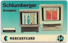 UK (Mercury) - Schlumberger, Answers - 20MERD - MER165 - 3.218ex, Used - Reino Unido