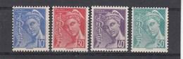 France - 1942 - N° YT 546/49** - Type Mercure - 1938-42 Mercurio