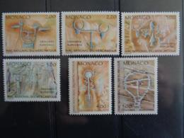 MONACO 1989 Y&T N° 1663 à 1668 ** - INSCRIPTIONS RUPESTRES DU PARC DU MERCANTOUR - Ongebruikt