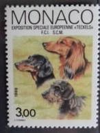 MONACO 1988  Y&T N° 1624 ** - EXPOS. CANINE SPECIALE EUROPEENNE TECKELS - Nuevos