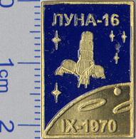 450-11 Space Russian Pin. Luna-16 Soviet Moon Program - Space