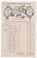 1913 - FACTURE BRIQUETERIE D. FOURNIER ROSIERES 80 SOMME - USINE A VAPEUR & FOUR A FEU CONTINU - BRIQUES CARREAUX CIMENT - Other