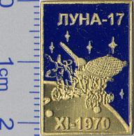 450-12 Space Russian Pin. Luna-17 Lunokhod Soviet Moon Program - Space