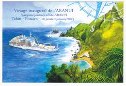 Polynésie Française / Tahiti - Carte Postale Prétimbrée à Poster 2019 Entier - Aranui / Pitcairn - French Polynesia