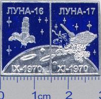 450-13 Space Russian Pin. Luna-16,-17 Lunokhod Soviet Moon Program - Space