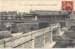 CPA Paris Gare Du Métropolitain à La Bastille - Arrondissement: 12
