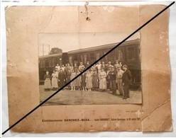 RARE : Photo Animée Ets SANCHEZ - BESA ( Equipe Sabourault , Sellerie Garnissage - SNCF - à Cognac , En 1921 ) - Cognac