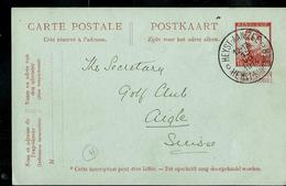 Carte N° 48. Obl. HEYST-AAN-ZEE  C  HEYST-SUR-MER  Du 15/07/1914 - Ganzsachen