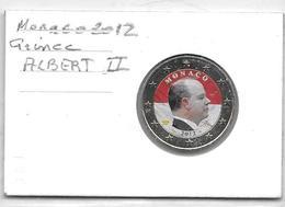 PIECE DE 2 EURO  De MONACO 2012 COLORISEE - Monaco