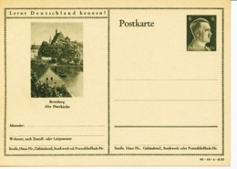 DR P 305 42 -10-B22 ** - 6 Pf Hitller  Bild Bromberg - Ganzsachen