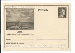 DR P 305 42 -10-B25 ** - 6 Pf Hitller Bild  Bromberg, Dürerschule - Ganzsachen