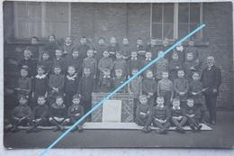 Photo CARNIERES Région Piéton Bascoup Morlanwelz Photo De Classe Garçon Thanks To USA From Belgian Children 1914-19 - Orte