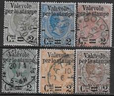 Italia Italy 1890 Regno Valevole Per Le Stampe Sa N.50-55 Completa US - 1878-00 Umberto I