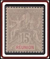 Réunion 1892-1901 - N° 48 (YT) N° 48 (AM) Neuf **. - Nuevos