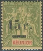 Réunion 1892-1901 - N° 55 (YT) N° 54 (AM) Neuf *. - Réunion (1852-1975)
