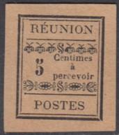 Réunion 1892-1901 - Timbre-taxe N° 01 (YT) N° 1 (AM) Neuf (*). - Réunion (1852-1975)
