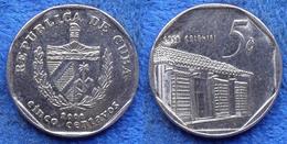 "CUBA - 5 Centavos 2000 ""Casa Colonial"" KM# 575.2 Second Republic (1962) - Edelweiss Coins - Cuba"