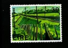IRELAND/EIRE - 1981  RAILWAY EMBANKMENT PAINTING  MINT NH - 1949-... Repubblica D'Irlanda