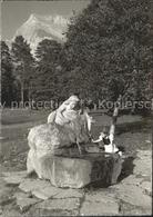 61116876 Maienfeld Heidi Brunnen / Maienfeld /Bz. Landquart - GR Grisons