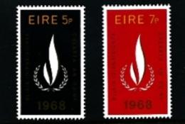 IRELAND/EIRE - 1968  HUMAN RIGHTS YEAR  SET  MINT NH - 1949-... Repubblica D'Irlanda